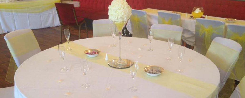 Wedding venue decor specialists in Cannock