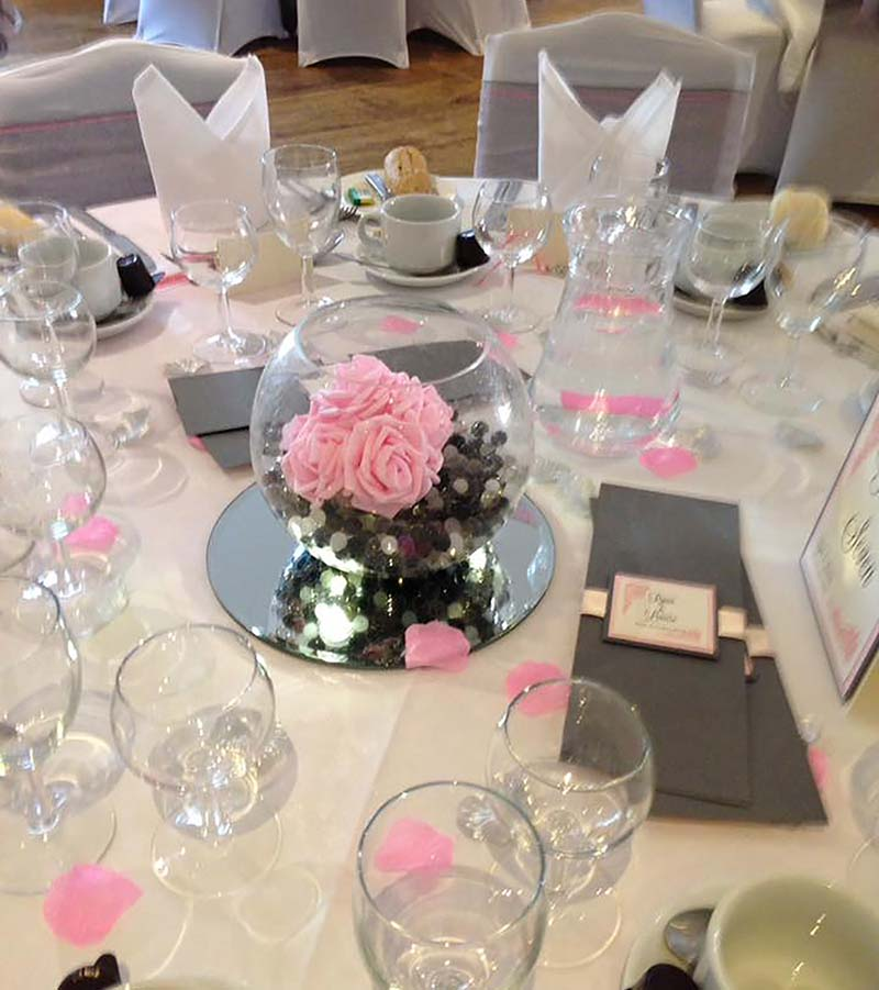Wedding decor table decoration services Lilleshall and Shropshire