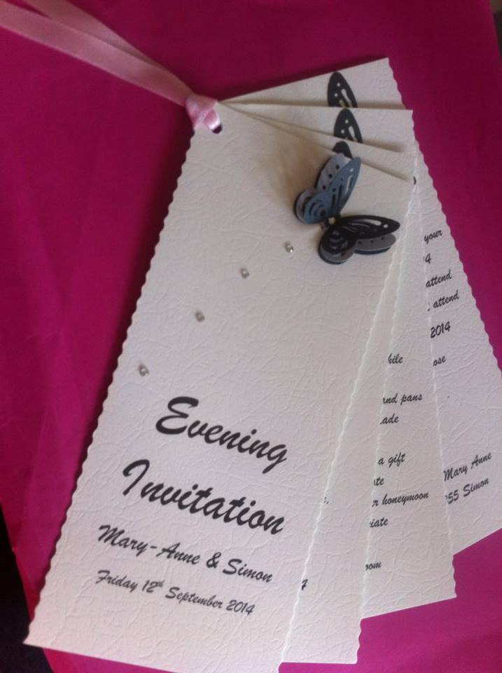 Wilnecote and Tamworth wedding and party invitations and stationary