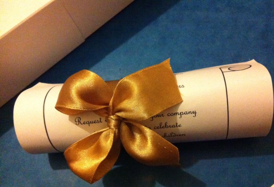 Hand made wedding invitations in Lichfield and Staffordshire