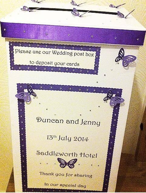 Wedding crafted post box in Tamworth