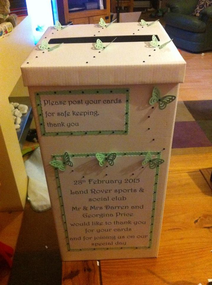Hand crafted post box for weddings in Claverley and Worcestershire