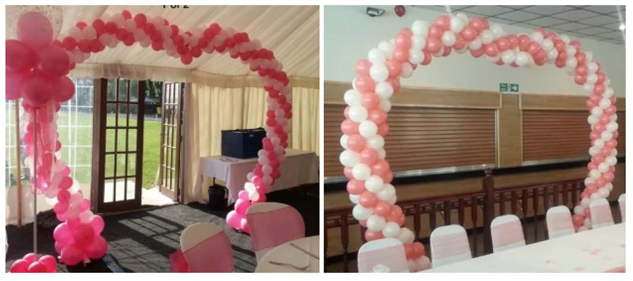 Large Balloon Heart Archway Walkway Wedding Decor Sians Special